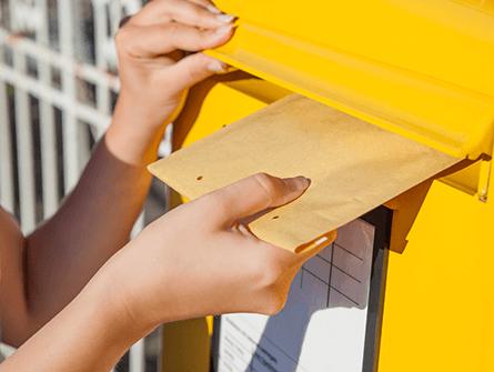 Bestellung per Post